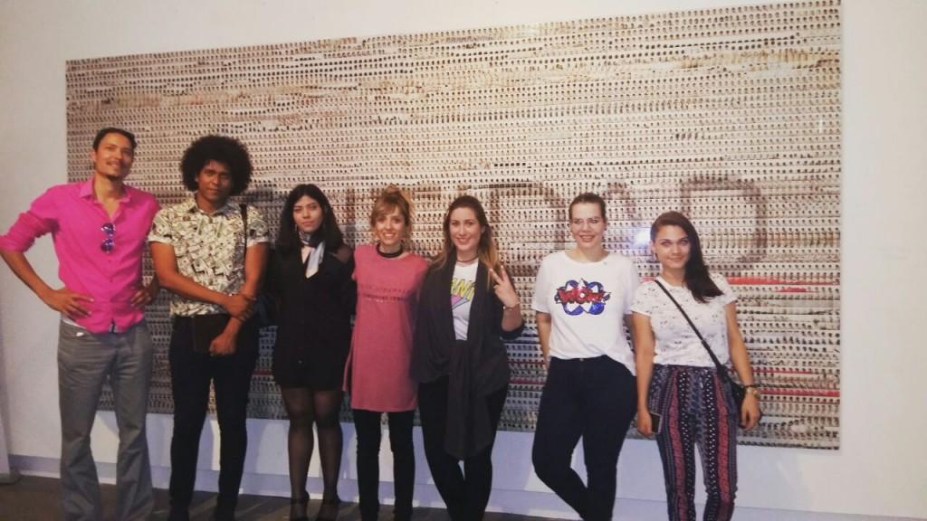Nerea Ubieto con artistas nicaragüenses