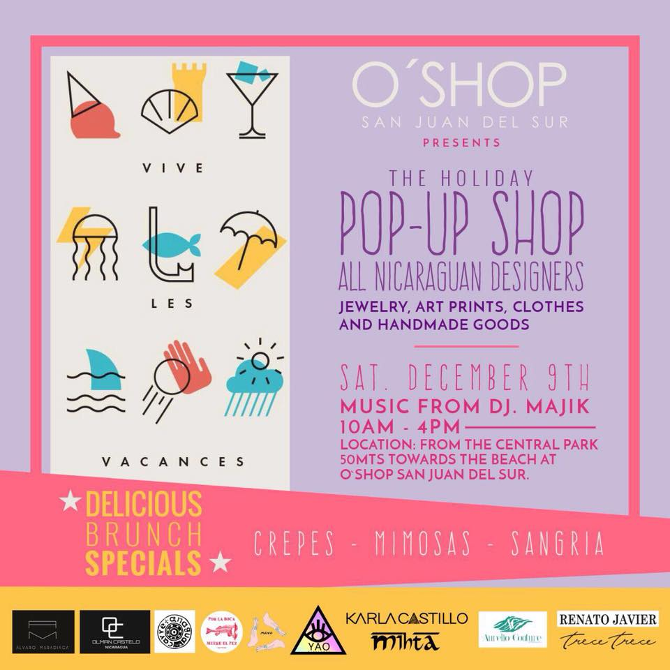 "Pop Up Shopping Mondays: Diseñadores Nicaragüenses Invitan Al ""The Holiday Pop Up"