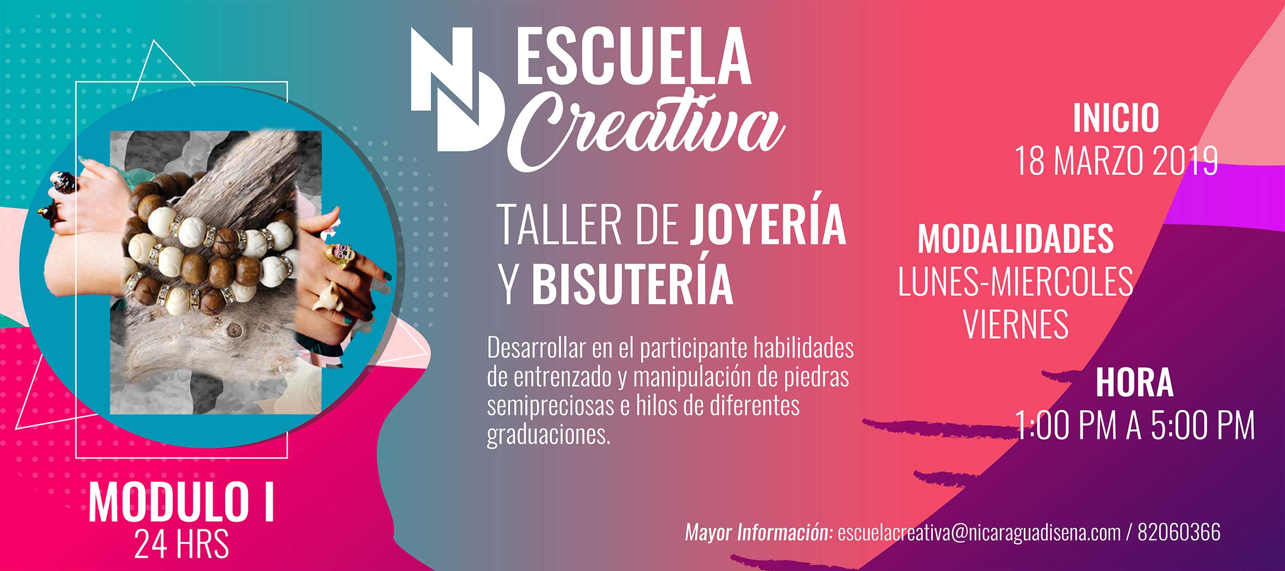 f9ce089635bd TALLER JOYERÍA Y BISUTERÍA (MÓDULO I) — Nicaragua Diseña